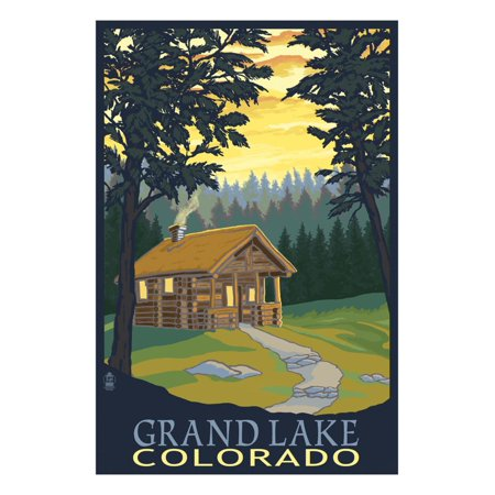 Cabin Scene - Grand Lake, Colorado Print Wall Art By Lantern (Cabin Scene)