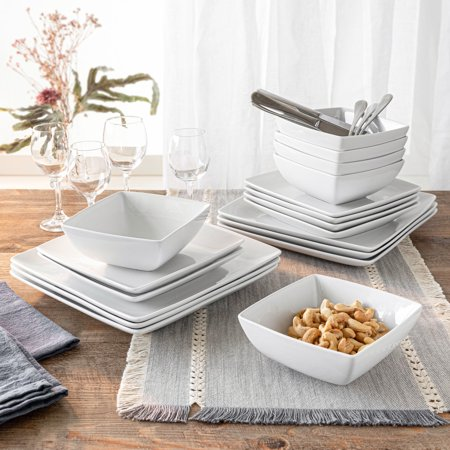 Better Homes & Gardens 18 Piece Loden Coupe Square Dinnerware Set