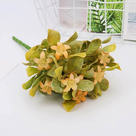 AkoaDa Bouquet Faux Artificial Silk Flower Hydrangea Leaves Wedding Party Decor Lovely ()