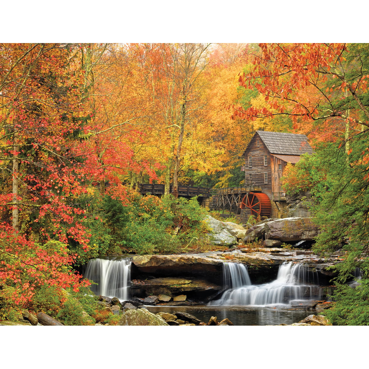 White Mountain Puzzles Old Grist Mill Puzzle, 1000 Pieces by White Mountain Puzzles