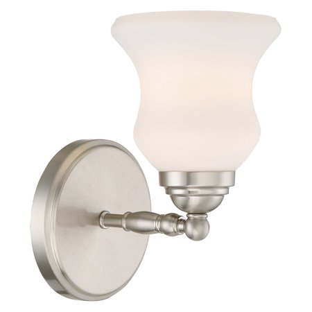 1 Lite Wall (Lite Source Faina 1 Light Brushed Nickel Wall Sconce with Shade)