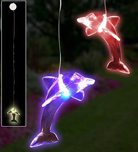 LED Dolphin Hanging Window Decoration Night Light - Set of 2