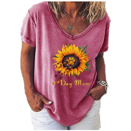 Rugged Edge Cut Sun Summer Hipster Tee Baggy Women Tee Top Ladies BOHO Floral Cold Shoulder T Shirt Summer Holiday Loose Casual Tee Tops With Sunflower Printed Pattern