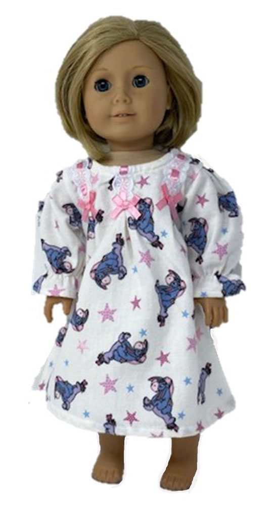 """Set of two nightgowns Fits 18/"""" American Girl Dolls"""