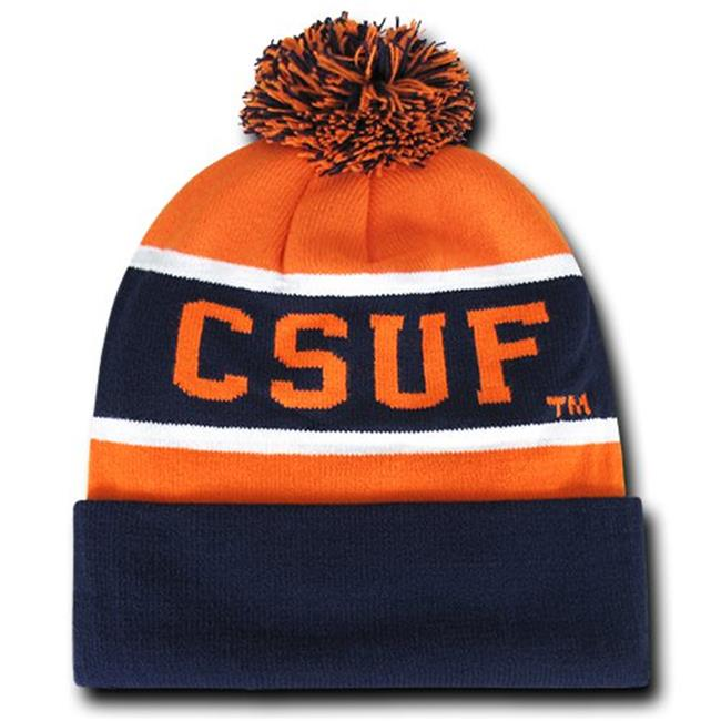 W Republic Apparel 805-108-NVYORN California State University, Fullerton the Legend Beanie NL, Navy & Orange - image 1 de 1