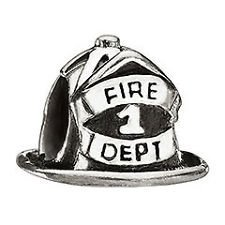 Fire Hat Charm (Fireman's Hat Charm Bead. Compatible With Most Pandora Style Charm)