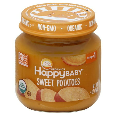 Baby Food Jar Crafts For Halloween (Happy Baby Clearly Crafted Organic Stage 1 Sweet Potatoes Jars, 4oz, 6)
