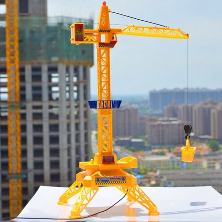 Kids Tower Remote Control RC Crane Construction Engineering Vehicle Toy Playset