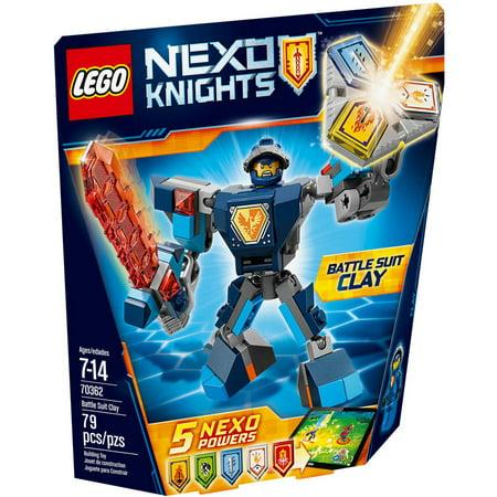 Knight Leg Armor (LEGO Nexo Knights Battle Suit Clay)