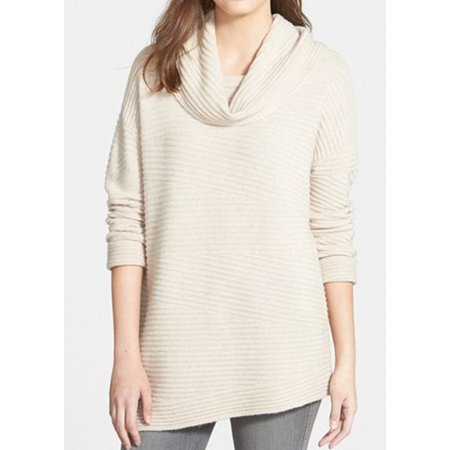 Nordstrom New Beige Womens Size Small S Cowl Neck Cashmere Sweater