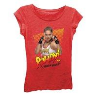 WWE Girls' Big Ronda Rousey Rowdy Short Sleeve T-Shirt, Red, L-12/14