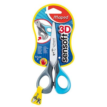 Left Handed Bandage Scissors - Maped USA Left Handed Sensoft Scissors - 5 Inch