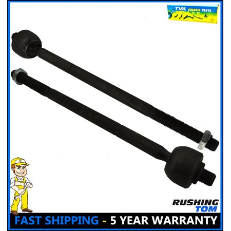 Set Of 2 Front Inner Tie Rod End Pair Chrysler Town Country Voyager Dodge EV405 ()