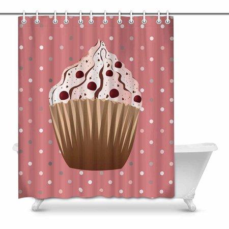 Yusdecor Sweet Cranberries Cupcake