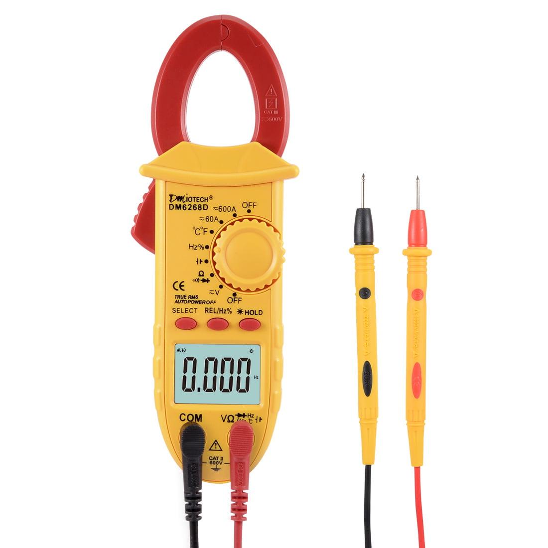 DMiotech Mini Multimeter AC DC Ammeter Voltage ACV DCV Capacitance Clamp Meter by