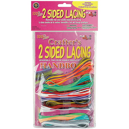 Pepperell Braiding Two Sided Plastic Craft Lacing and Handbook - Plastic Lacing