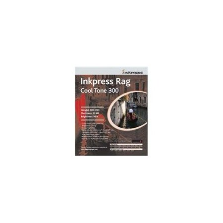 Inkpress Rag, Cool Tone Double Sided, Bright White Matte Inkjet Paper, 24 mil., 300gsm, 13x19
