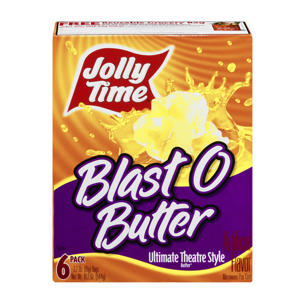 Jolly Time Popcorn Blast O Butter Ultimate Theatre Style Pack - 6 CT