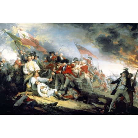 Battle Of Bunker Hill 1775 NThe Battle Of BunkerS Hill June 17 1775 The  Death Of General Joseph Warren At Right Are The American Lt Thomas  Grosvenor