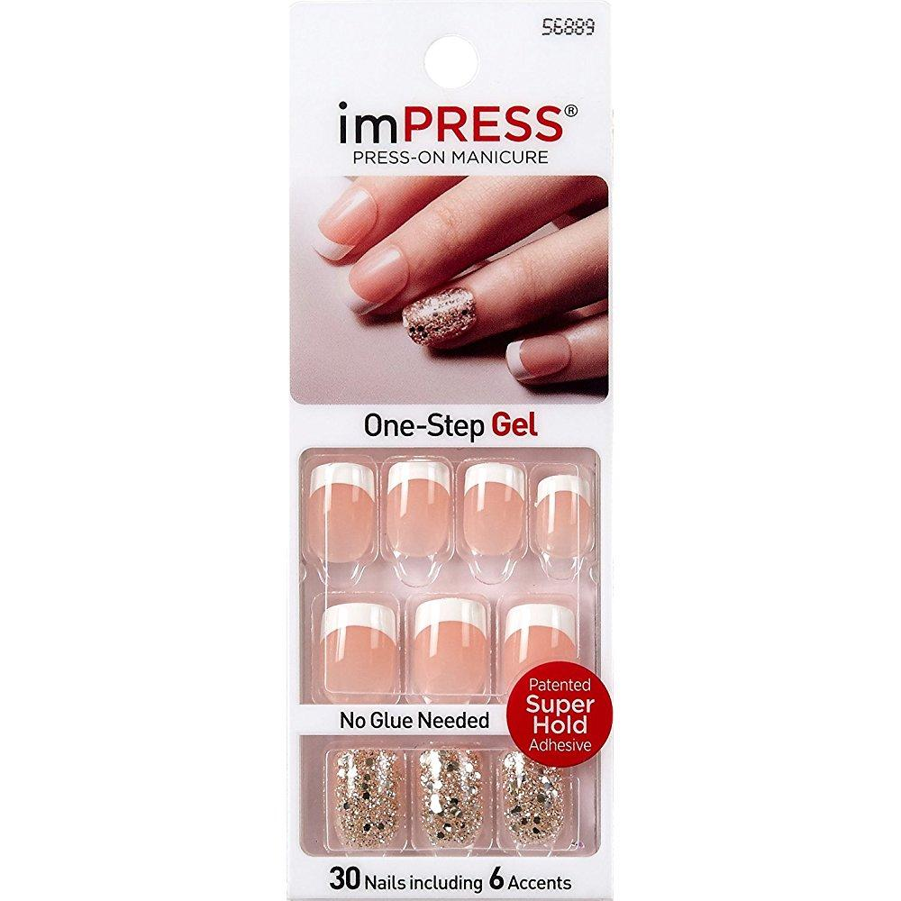 **new** kiss gel impress pick me by broadway press-on manicure nails