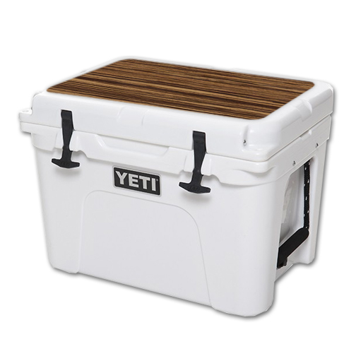MightySkins Protective Vinyl Skin Decal for YETI Tundra 35 qt Cooler Lid wrap cover sticker skins Dark Zebra Wood