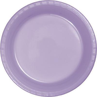 Creative Converting Luscious Lavender Purple Plastic Plates, 20 ct