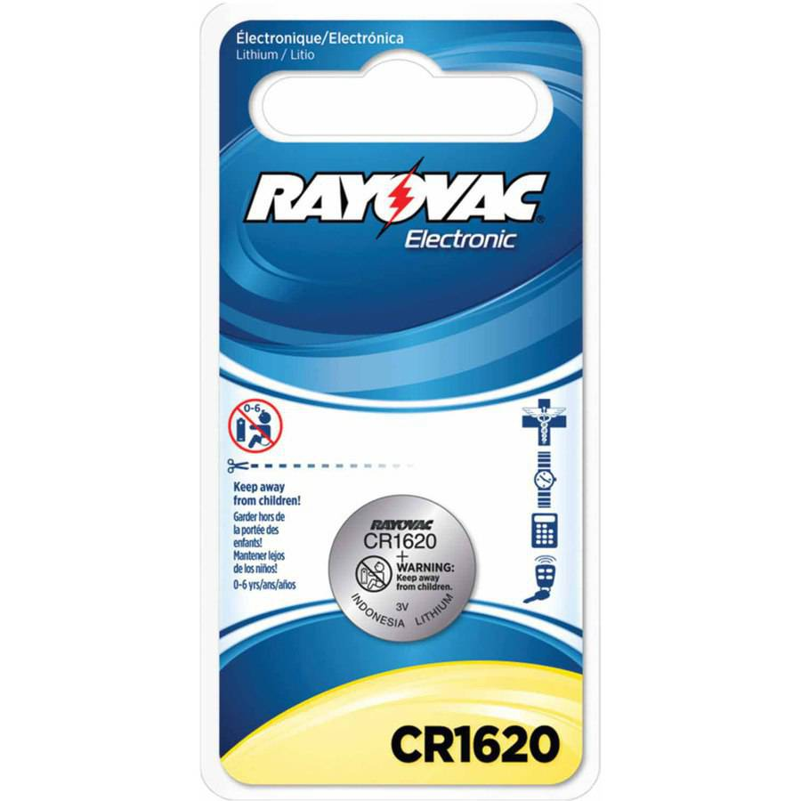 Rayovac KECR1620-1C 3V Lithium Keyless Entry Battery, 1pk