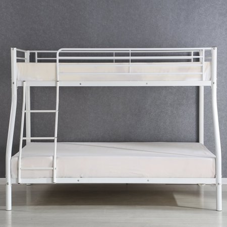 Gymax Metal Twin Bunk Over Beds Frame Ladder Bedroom Dorm Kids Teens