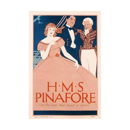 - Poster Advertising 'HMS Pinafore', C.1930 Print Wall Art