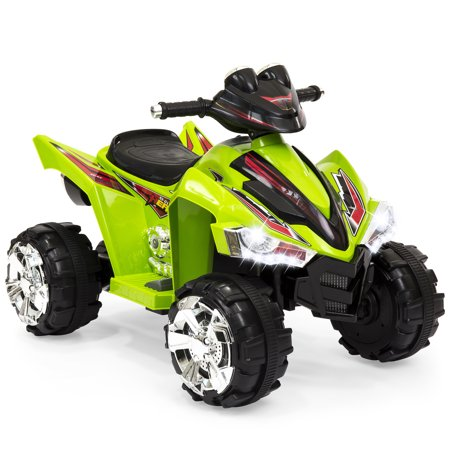 Best Choice Products Kids 12V Electric 4-Wheeler Ride On w/ LED lights, Forward and Reverse, Green