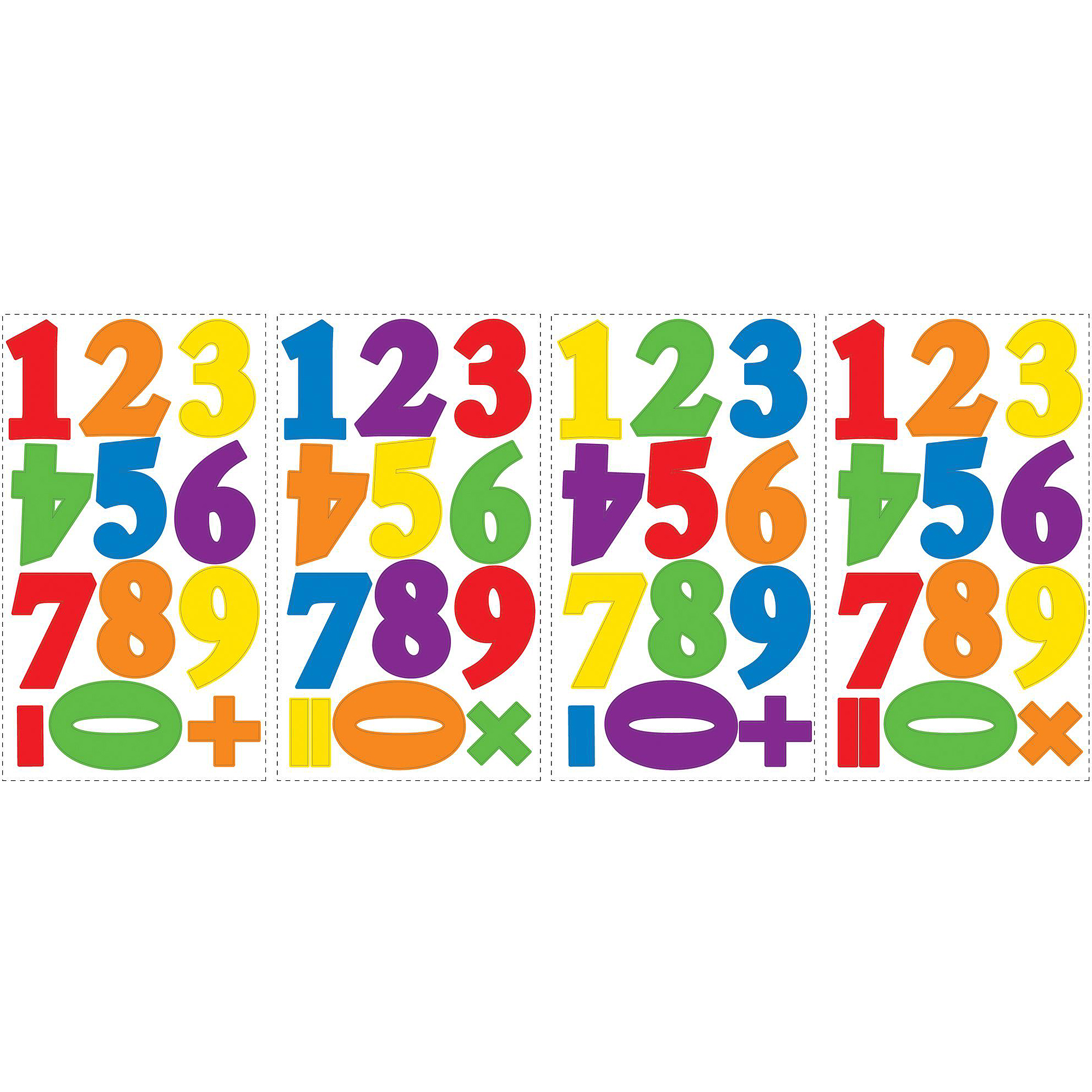RoomMates Numbers Primary Peel and Stick Wall Decals
