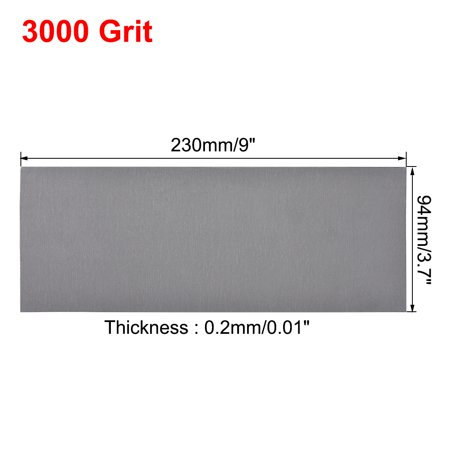 Waterproof Sandpaper, Wet Dry Sand Paper Grit of 3000, 9 x 3.7inch 10pcs - image 1 de 5