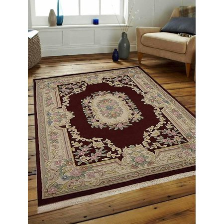 - Rugsotic Carpets Hand Knotted Aras Wool 3'x5' Area Rug Oriental Red AR0101