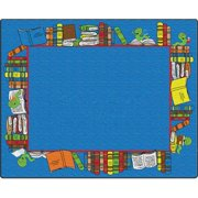 Flagship Carpets FE406-44A Rectangle BookWorm Readers Carpet, 7 ft. 6 in. x 12 ft.