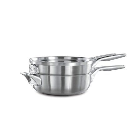 Calphalon Premier Space Saving Stainless Steel 3 Piece, 8-Inch Stack Cookware Set