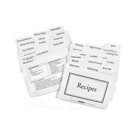 Label-eze Recipe Card Divider 3-by-5-Inch Set - Easy Halloween Recipes For Parties