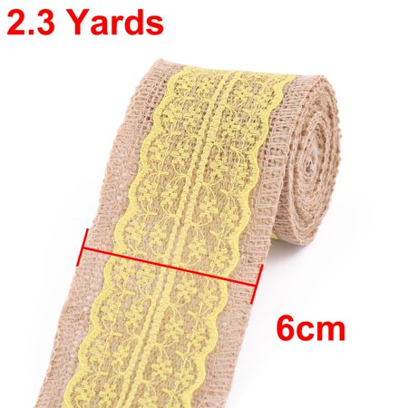 Wedding Party Linen Chair Cake Box Decor DIY Sewing Ribbon Roll Yellow 2.3 Yards - image 2 of 4