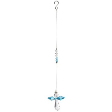Carson Home Accents 14859X 4 in. Mini Angel Prism Drop - Aqua ()