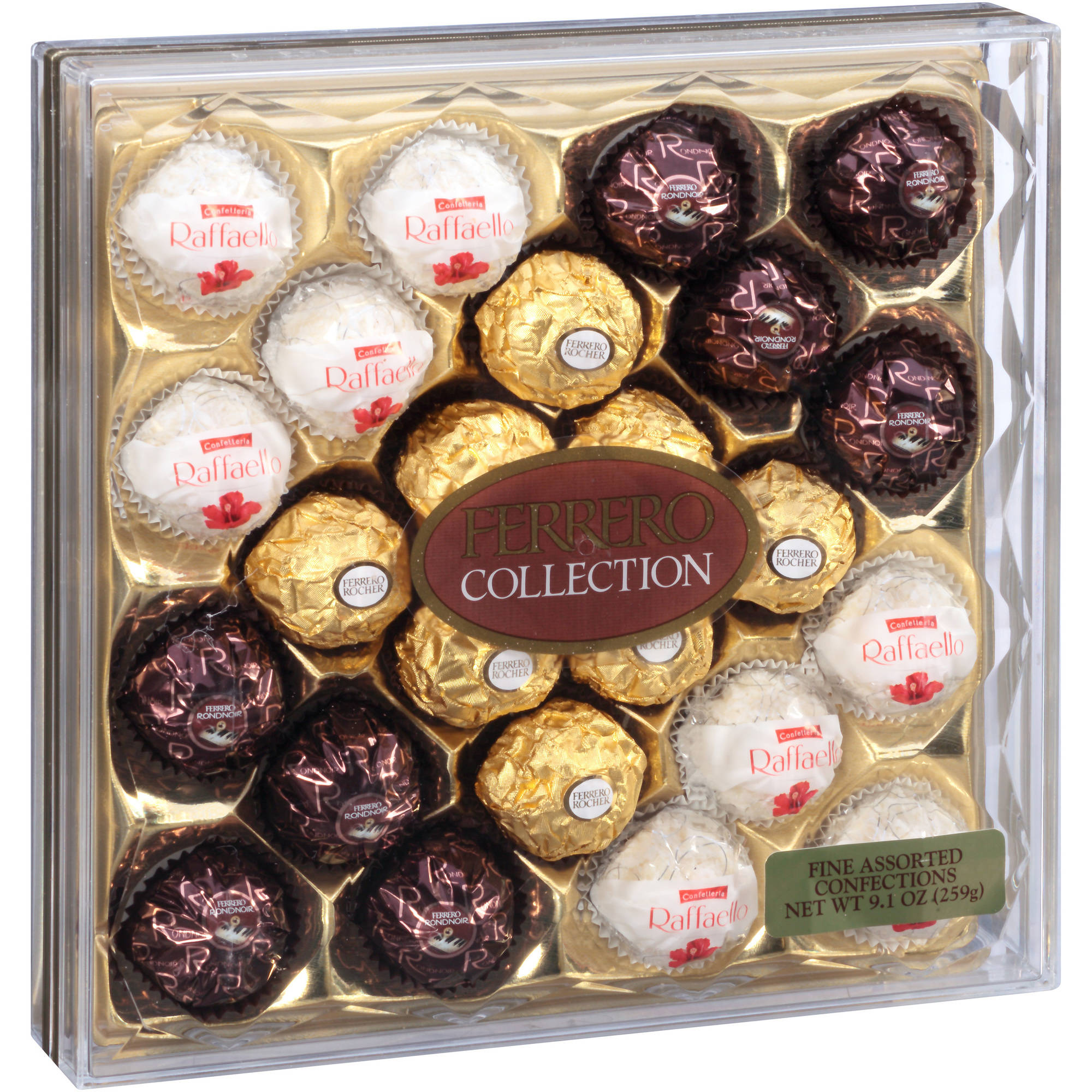 Ferrero Rocher Collection Assorted Chocolate Candy, 0.37 oz, 24 ct ...