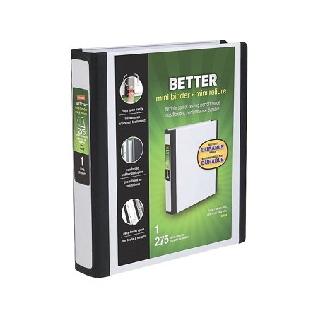 Staples Better Mini 5.5 x 8.5 Inch 3-Ring View Binder White (20949) 924439