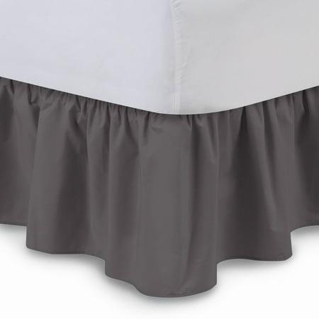 California King Bed Skirt.Ruffled Bed Skirt Cal King Hunter 14 Inch Drop Dust Ruffle With Platform