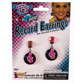 50'S RECORD EARRINGS - 50's Fashion Ideas