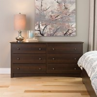Kingfisher Lane Espresso 6 Drawer Dresser