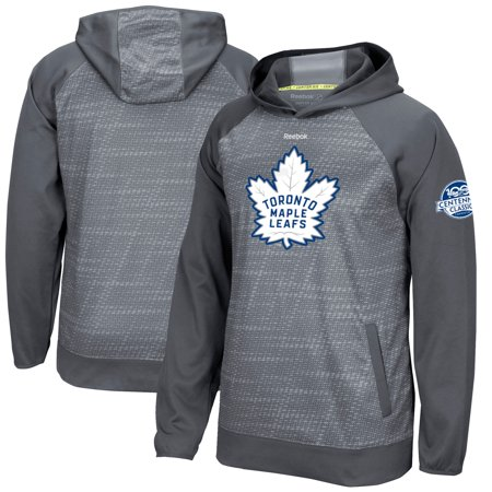 Toronto Maple Leafs Reebok 2017 Centennial Classic Center Ice Team Logo TNT Pullover Hoodie - Gray