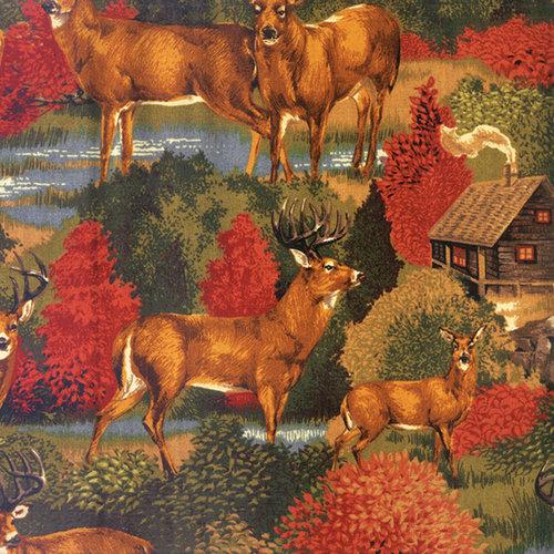 VIP Fabrics Deer Run Scenic Fabric