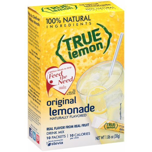 True Lemon Original Lemonade Drink Mix, 1.06 oz