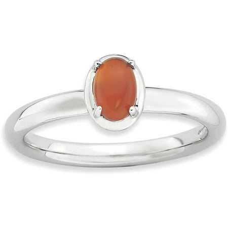 Agate Topaz Ring - Red Agate Sterling Silver Polished Ring