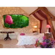 Startonight 3D Mural Wall Art Photo Decor Beautiful Rose Amazing Dual View Surprise Wall Mural Wallpaper for Bedroom Flowers Wall Paper Art Gift Large 47.24 '' By 86.61 ''