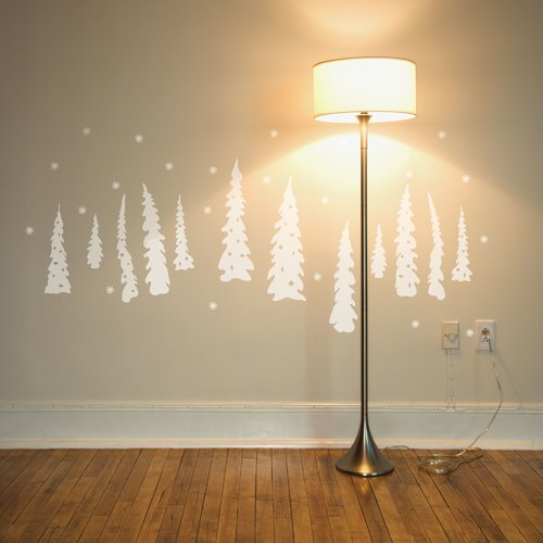 ADZif Christmas Tree Under The Snow Wall Decal