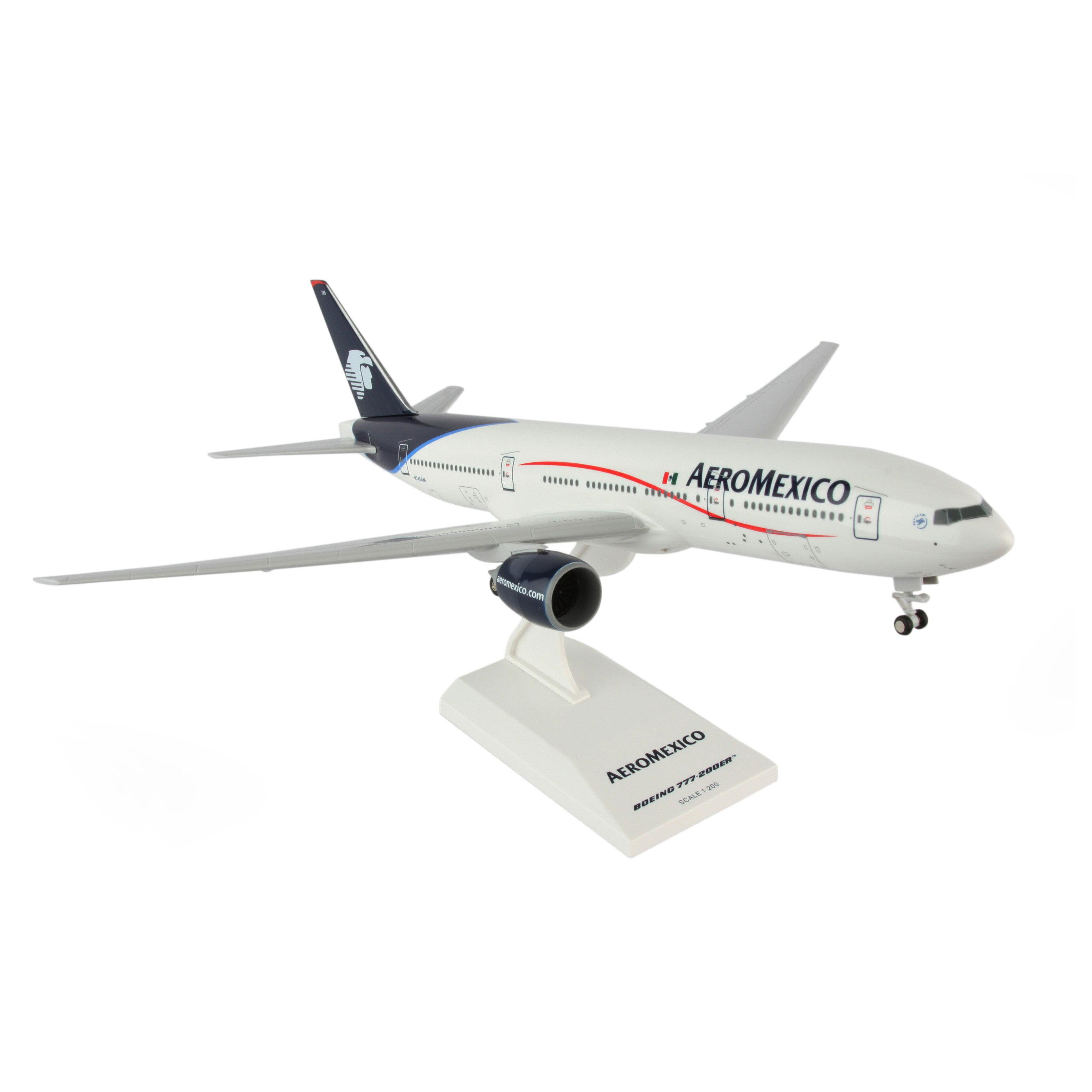 Skymarks Aeromexico 777-200ER 1 200 with Gear Model Airplane by DARON
